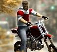 משחק של אופנוע עם רקע של עונת הסתיו