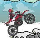 בואו לנסוע עם האופנוע בשלג