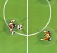 משחק כדורגל שולחן עם שחקנים וכדור מגנטים