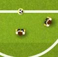 משחק חמוד של כדורגל עם העכבר בלבד