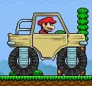 משחק של מריו נוסע במכונית ענק